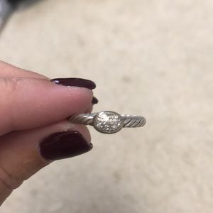 David yurman petite pave diamond ring size 7
